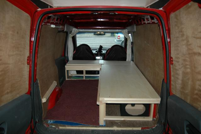 Small Van Campervan Conversion Project Vauxhall Combo