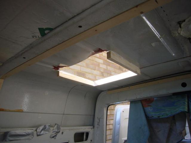 Fitting The Roof Skylights Campervan Conversion