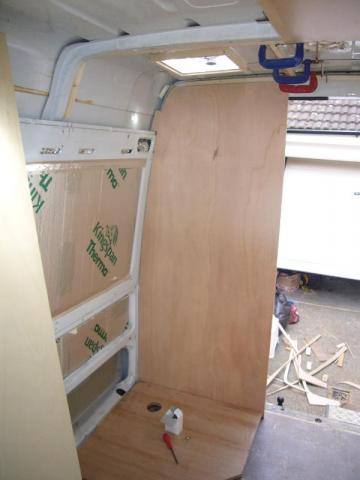 Fitting The Shower Cubicle Campervan Conversion