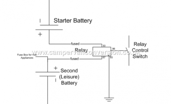 Old school Leisure Battery Split Charge Relay Diagram