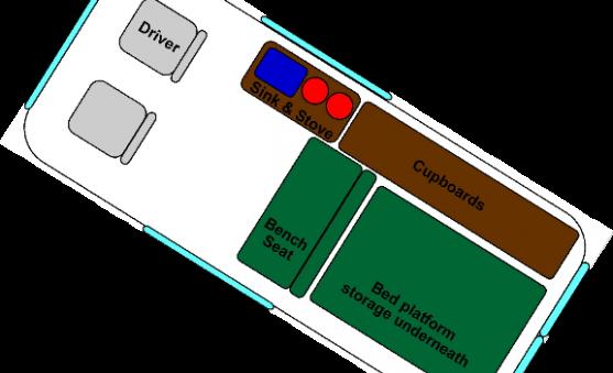 Optional Floor Plan For A Campervan