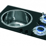 CAN 2 Burner Sink / Stove Combination Unit