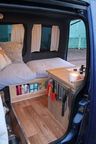 Small Van Campervan Conversion Project Pamthevan Tiny