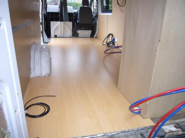 Fitted Wood Laminate Flooring Campervan Conversion