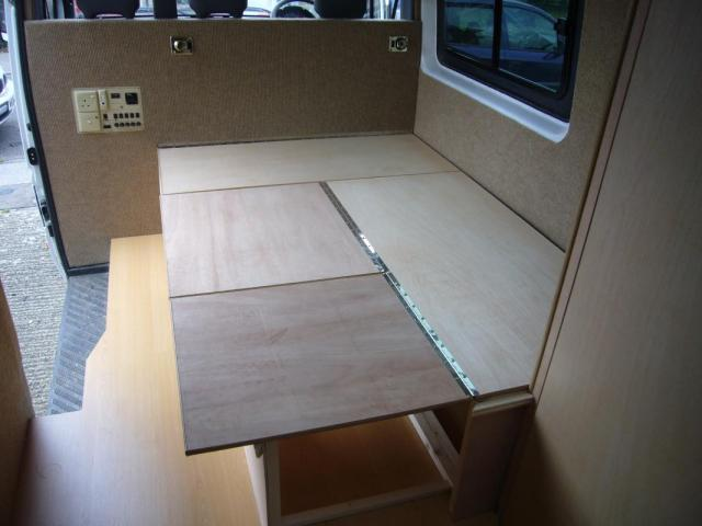 Built Seating To Convert To Double Bed Campervan