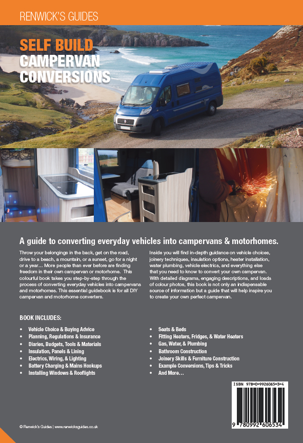 Self Build Campervan Conversions Book Back Cover