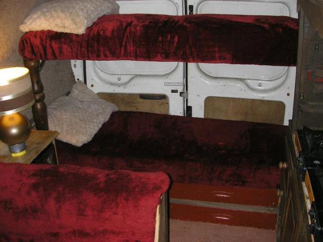 Sprinter Van Bunk Beds >> TRANSIT BUNK BEDS | Campervan Conversion - Campervan Conversion Project