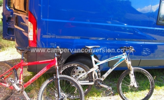 Don't forget about bikes when converting your van!