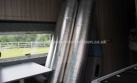 Foil insulation campervan and motorhome rolls
