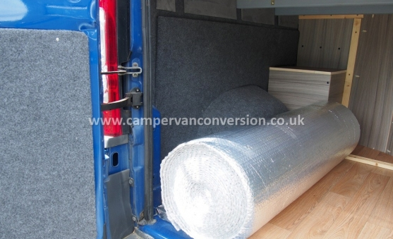 A nicely converted campervan using foil insulation