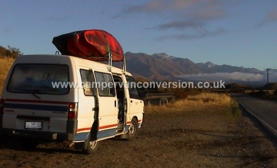 Campervan for kayaking