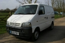 The base van (Suzuki Carry 1.3 2005) as purchased. Already partially ply lined.